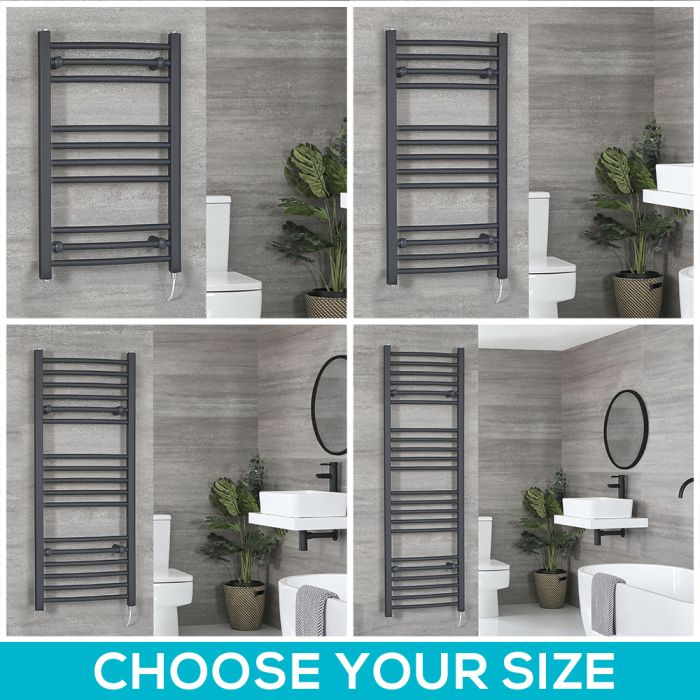 Artle Electric - Anthracite Curved Towel Warmer - Choice of Size