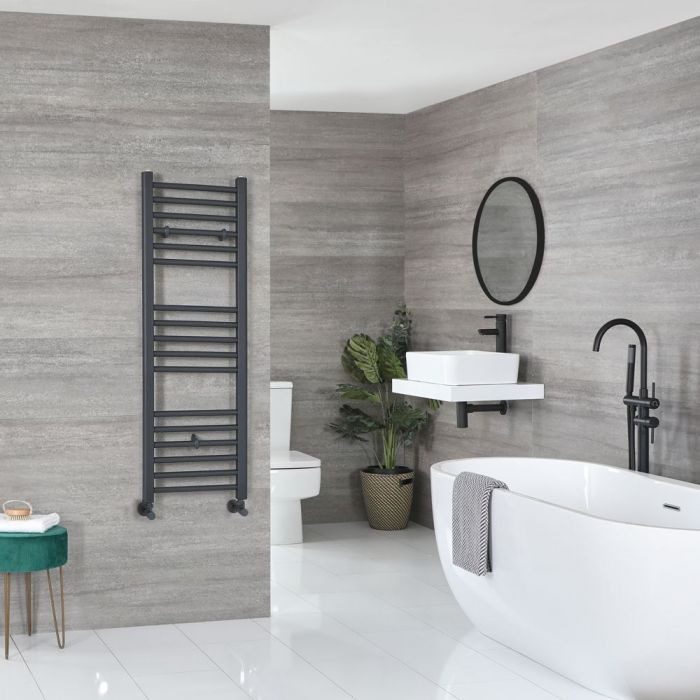 """Artle - Anthracite Hydronic Flat Towel Warmer - 47 1/4"""" x 15 3/4"""""""