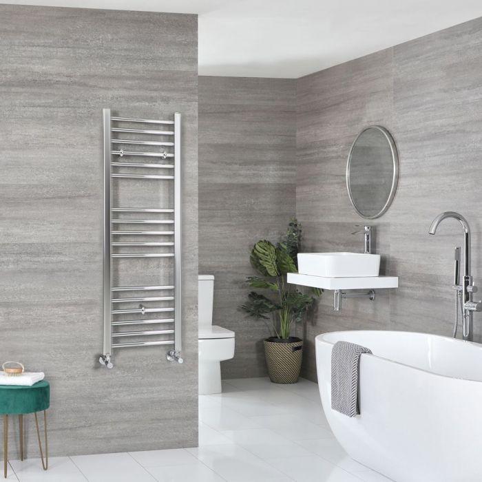 "Kent - Chrome Hydronic Flat Towel Warmer – 47 1/4"" x 15 3/4"""