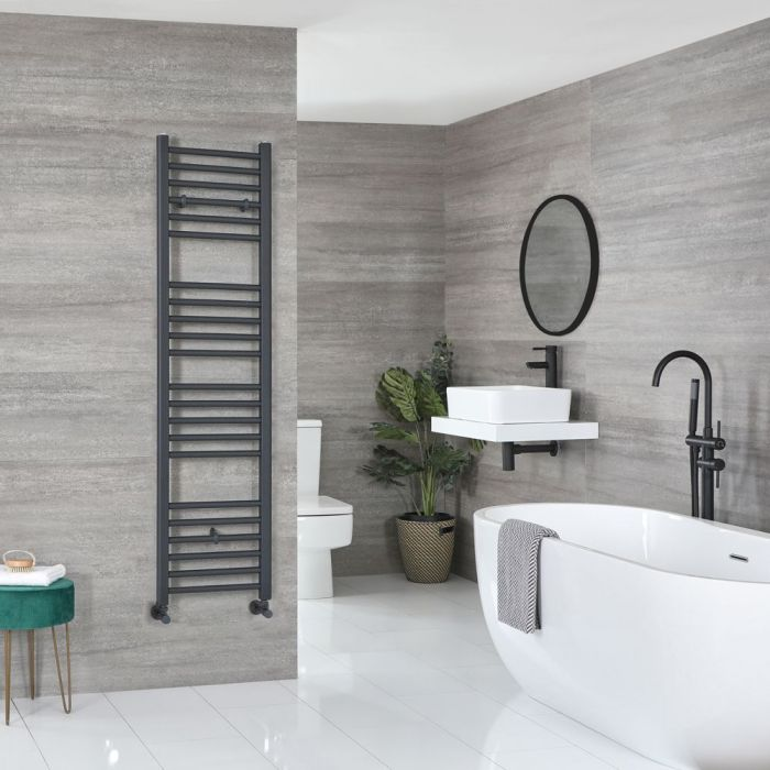 """Artle - Anthracite Hydronic Flat Towel Warmer – 63"""" x 15 3/4"""""""
