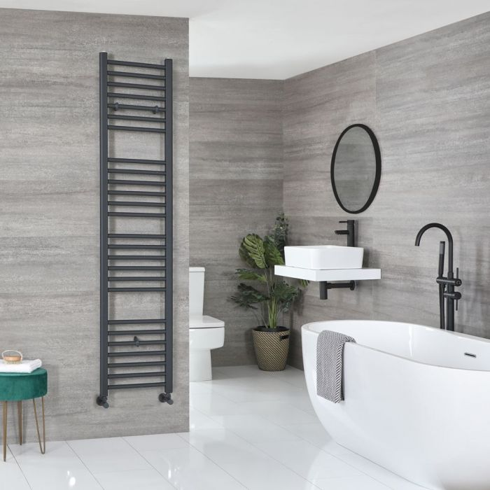 """Artle - Anthracite Hydronic Flat Towel Warmer - 70 7/8"""" x 15 3/4"""""""