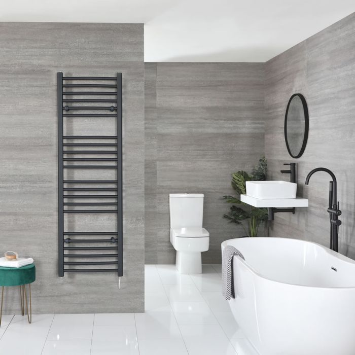 """Artle Electric - Anthracite Flat Towel Warmer - 63"""" x 20"""""""