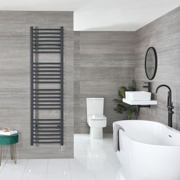 """Artle Electric - Anthracite Flat Towel Warmer - 71"""" x 20"""""""