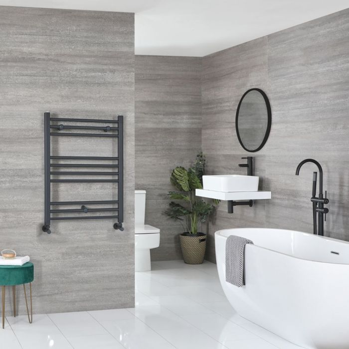 """Artle - Anthracite Hydronic Flat Towel Warmer - 31 1/2"""" x 23 5/8"""""""