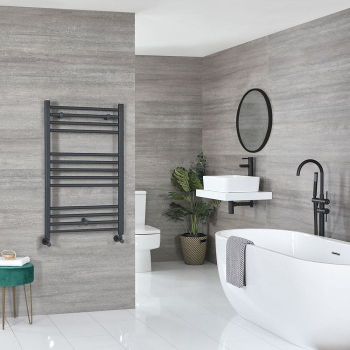 """Artle - Anthracite Hydronic Flat Towel Warmer – 39 3/8"""" x 23 5/8"""""""