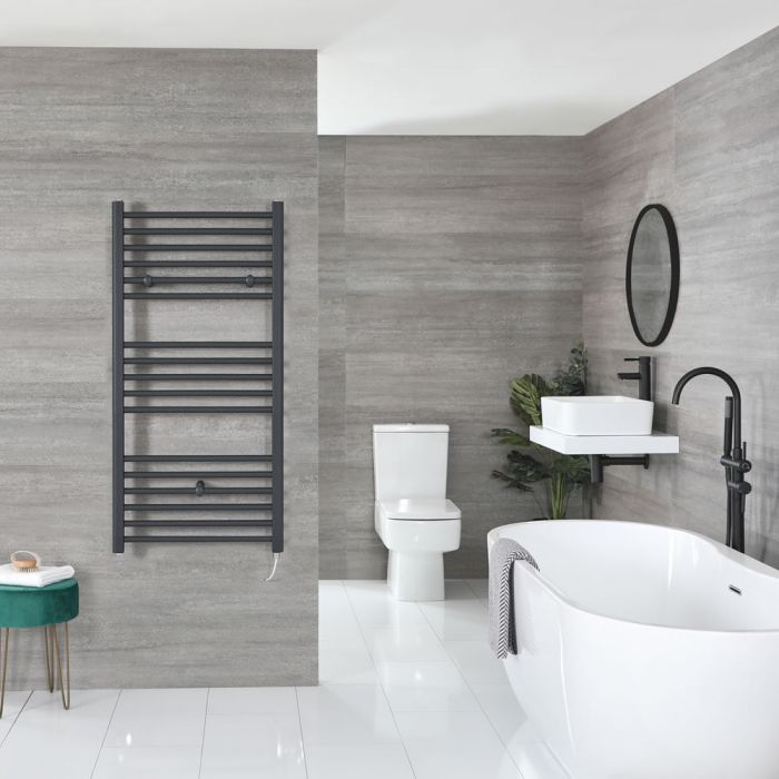 """Artle Electric - Anthracite Flat Towel Warmer - 47"""" x 24"""""""