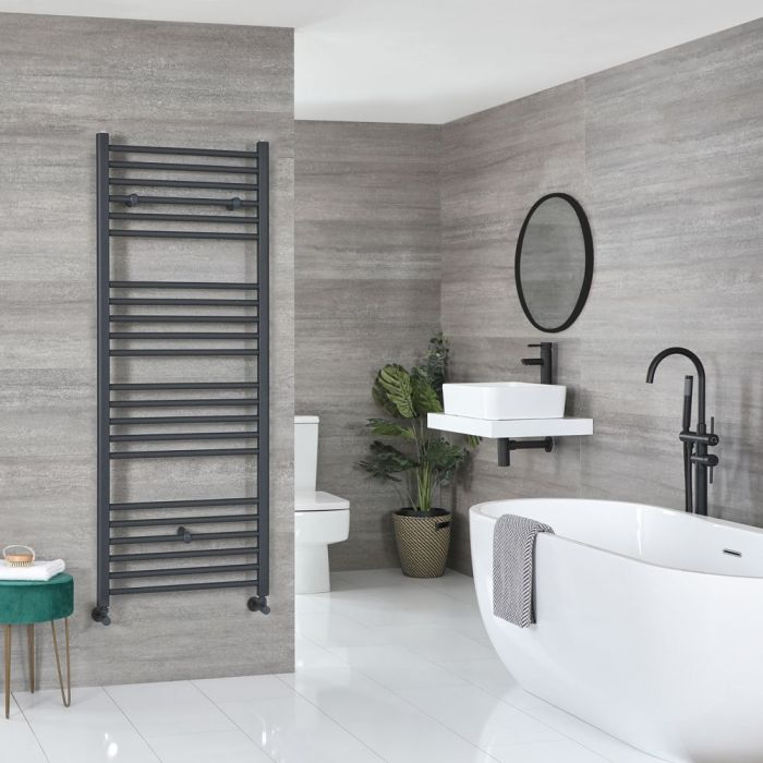 """Artle - Anthracite Hydronic Flat Towel Warmer - 70 7/8"""" x 23 5/8"""""""