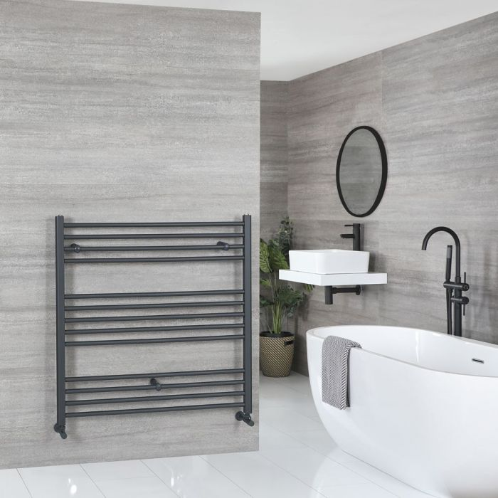 """Artle - Anthracite Hydronic Flat Towel Warmer - 39 3/8"""" x 39 3/8"""""""