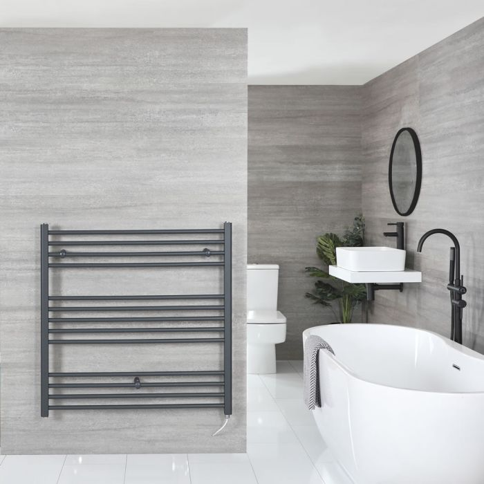 """Artle Electric - Anthracite Flat Towel Warmer - 39"""" x 39"""""""