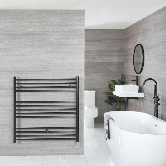 """Nox Electric - Matt Black Flat Towel Warmer - 39 3/8"""" x 39 3/8"""""""