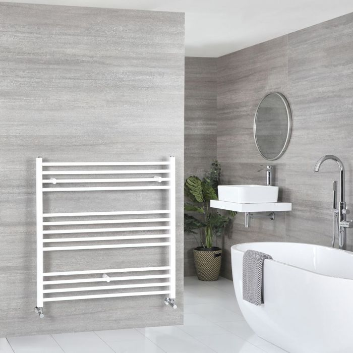"Ive - White Hydronic Flat Towel Warmer – 39 3/8"" x 39 3/8"""