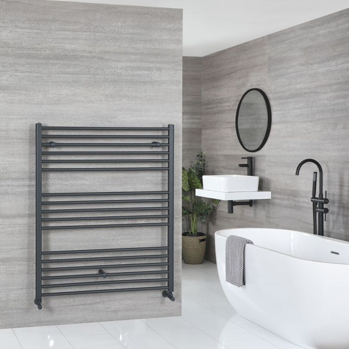 """Artle - Anthracite Hydronic Flat Towel Warmer - 47 1/4"""" x 39 3/8"""""""