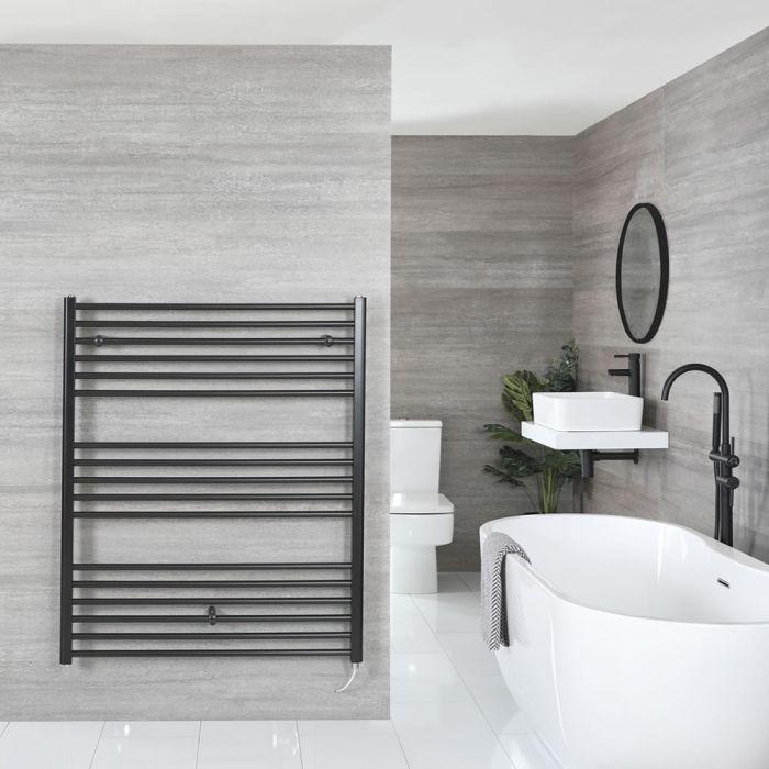 """Nox Electric - Matt Black Flat Towel Warmer - 47 1/4"""" x 39 3/8"""""""
