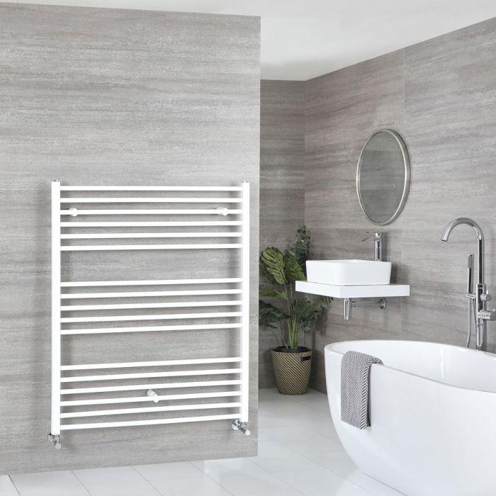 "Ive - White Hydronic Flat Towel Warmer - 47 1/4"" x 39 3/8"""