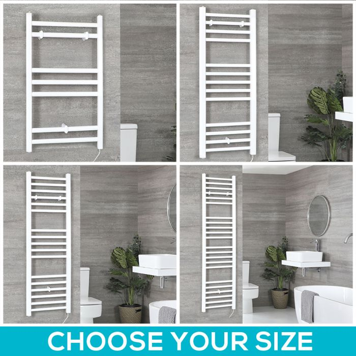 Ive Electric - White Flat Towel Warmer - Choice of Size
