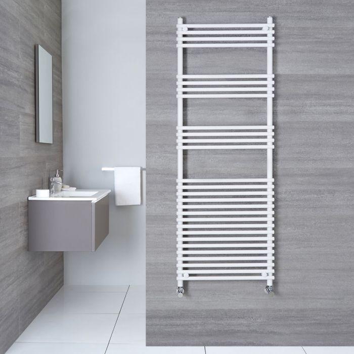 "Ischia - Hydronic White Heated Towel Warmer - 65"" x 23.5"""
