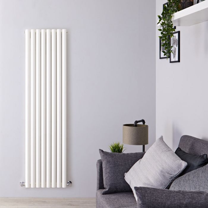 "Savy - White Vertical Single-Panel Designer Radiator - 70"" x 18.5"""