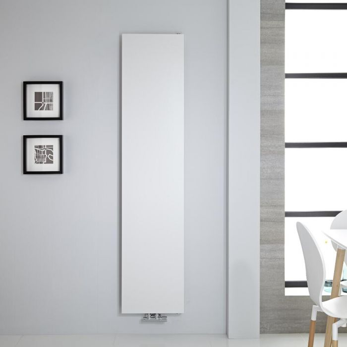 "Rubi - White Vertical Flat-Panel Designer Radiator - 70.75"" x 15.75"""