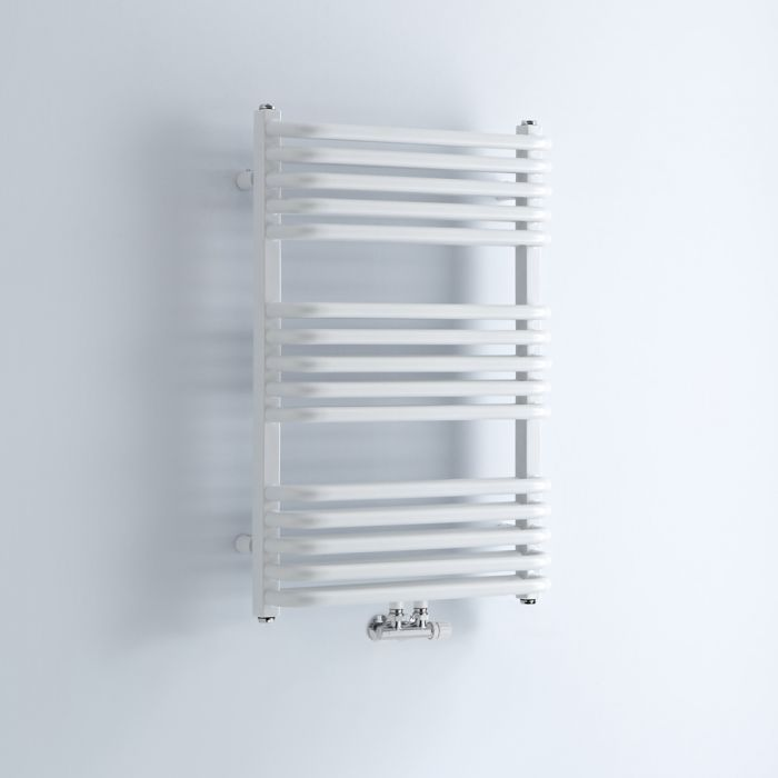 """Arch - White Hydronic Heated Towel Warmer - 29"""" x 19.75"""""""