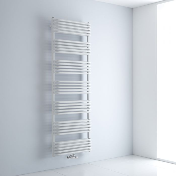 """Arch - White Hydronic Heated Towel Warmer - 70.75"""" x 23.5"""""""