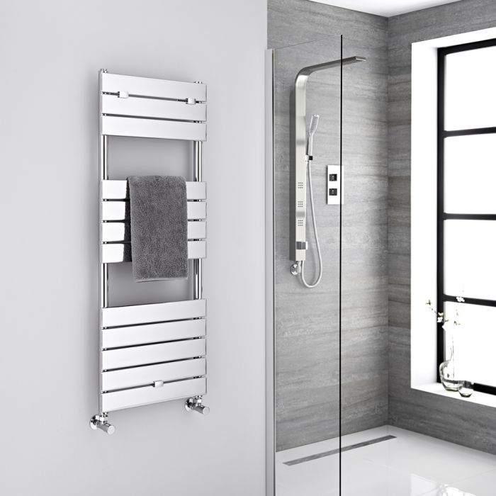 "Lustro  - Hydronic Chrome Heated Towel Warmer - 47.75"" x 17.75"""