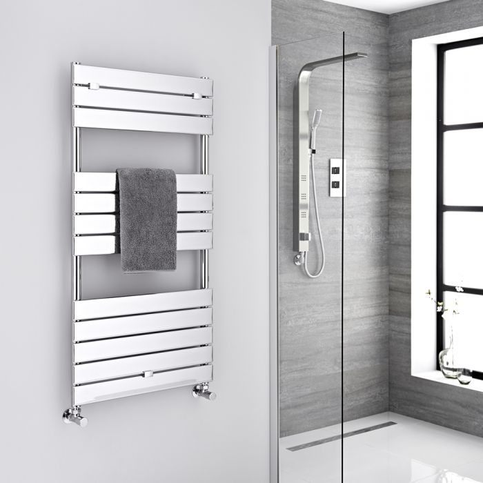"Lustro - Hydronic Chrome Heated Towel Warmer - 47.75"" x 23.5"""