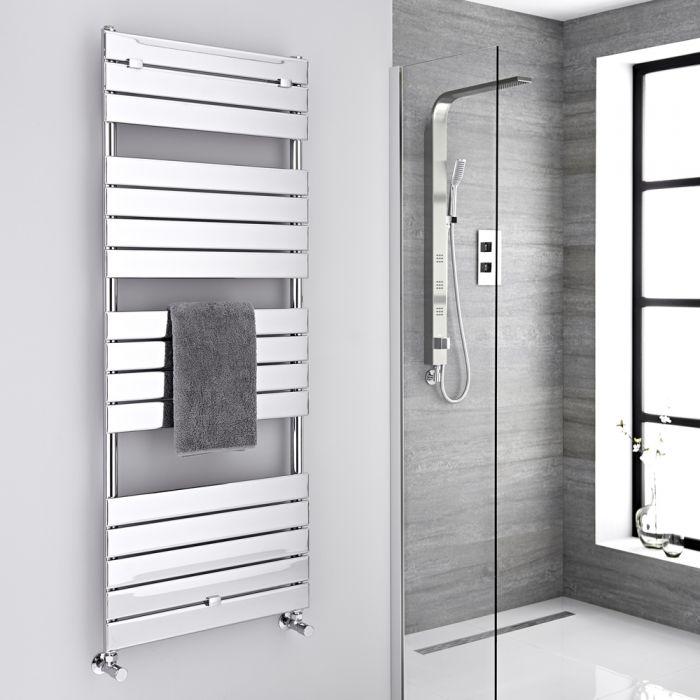 "Lustro  - Hydronic Chrome Heated Towel Warmer - 59.5"" x 23.5"""