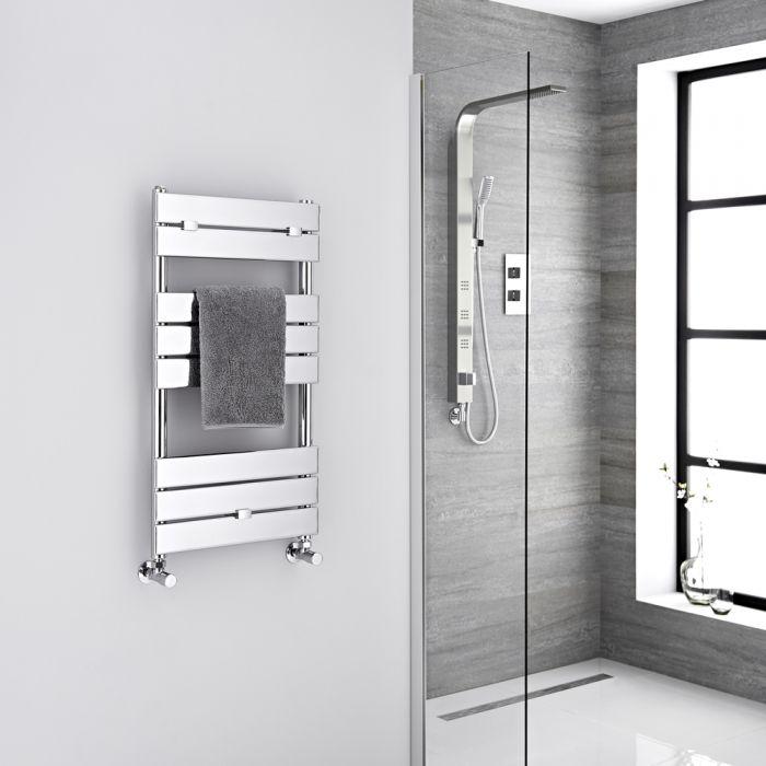 "Lustro  - Hydronic Chrome Heated Towel Warmer - 33"" x 17.75"""