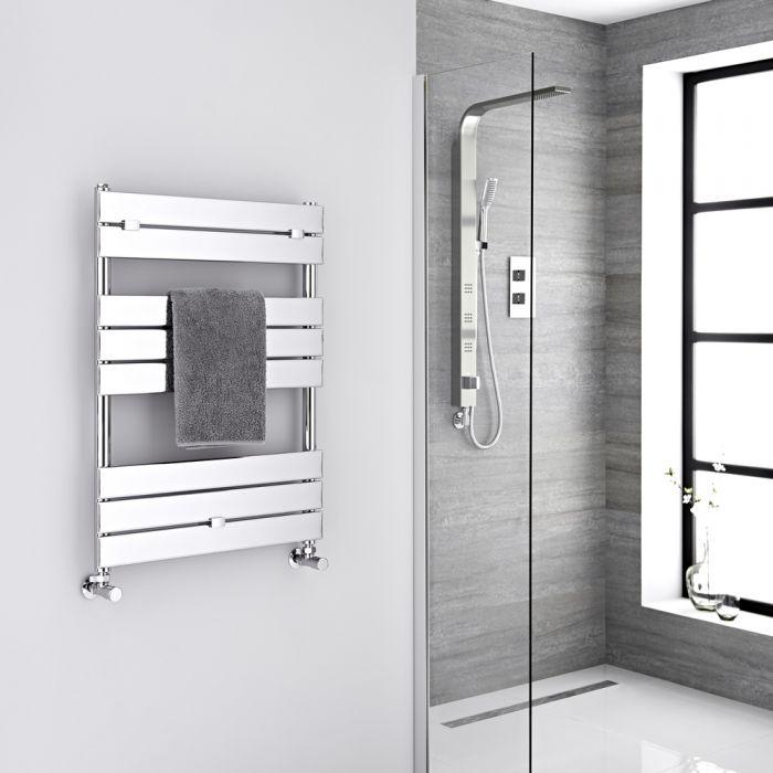 "Lustro - Hydronic Chrome Heated Towel Warmer - 33"" x 23.5"""