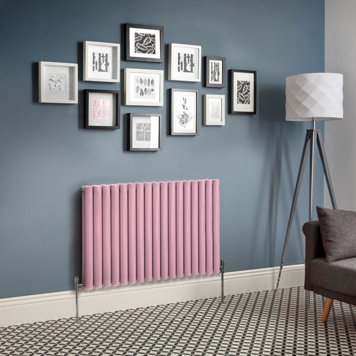 Revive - Pink Horizontal Double-Panel Designer Radiator - All Sizes