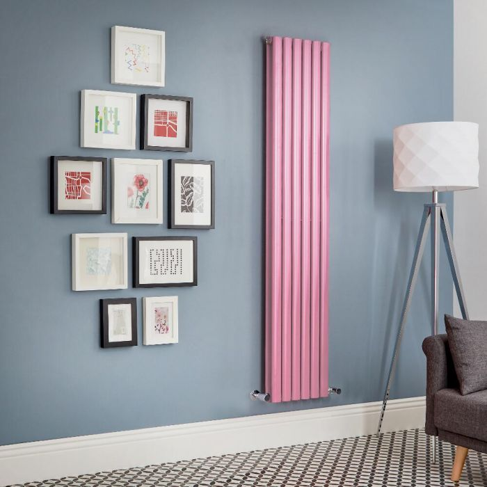 Revive - Pink Vertical Double-Panel Designer Radiator - All Sizes