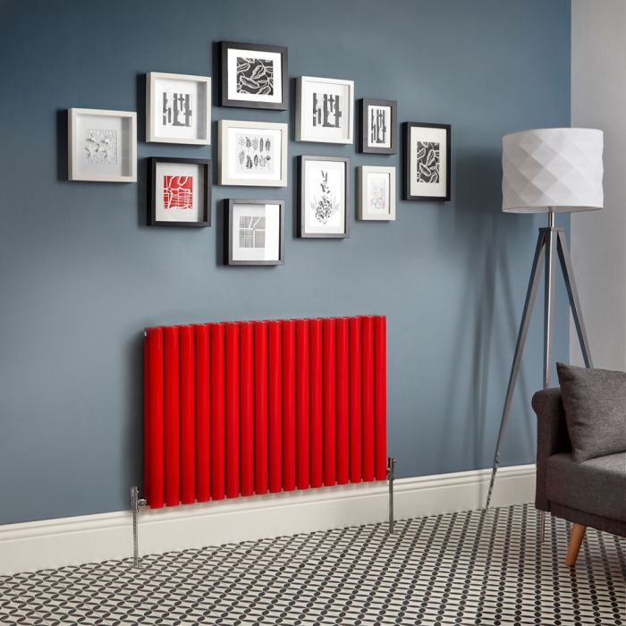 Revive - Red Horizontal Double-Panel Designer Radiator - All Sizes
