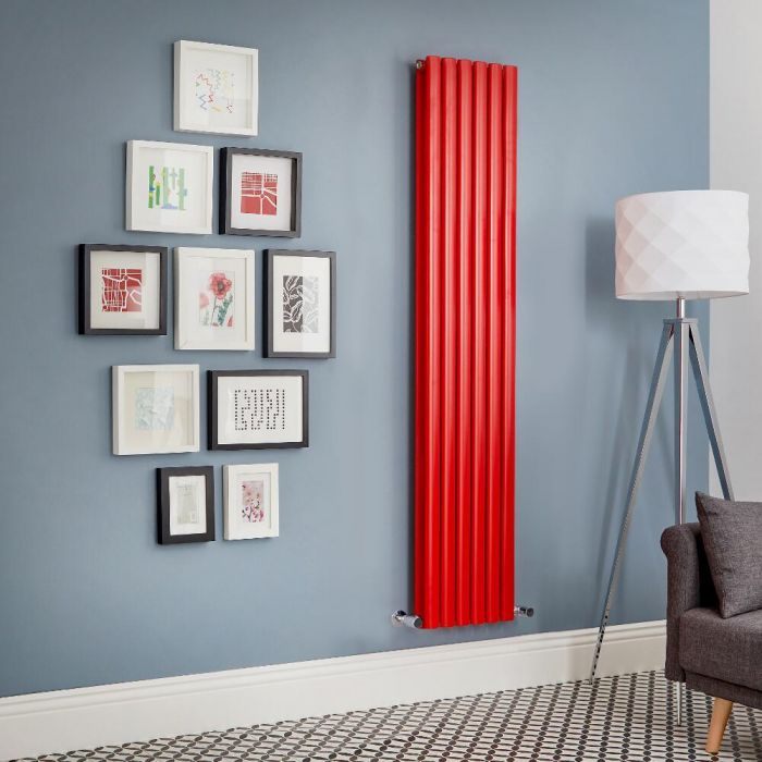 Revive - Red Vertical Double-Panel Designer Radiator - All Sizes