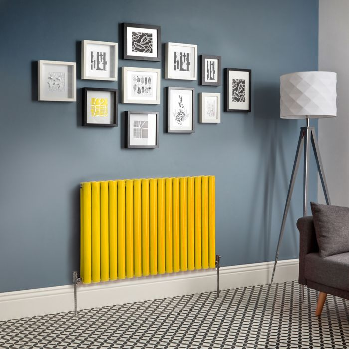 Revive - Yellow Horizontal Double-Panel Designer Radiator - All Sizes