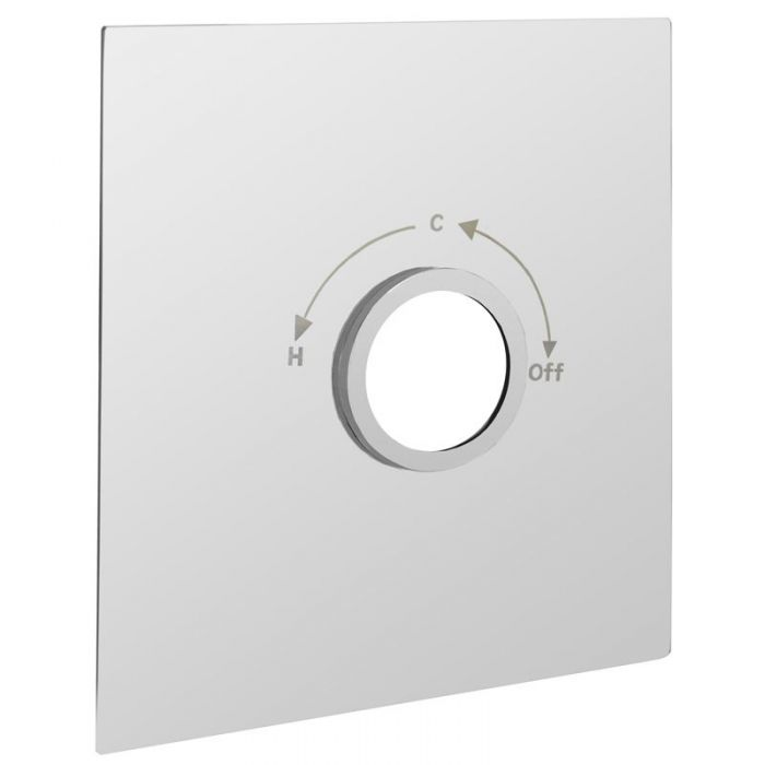 Square concealing plate for VQ12