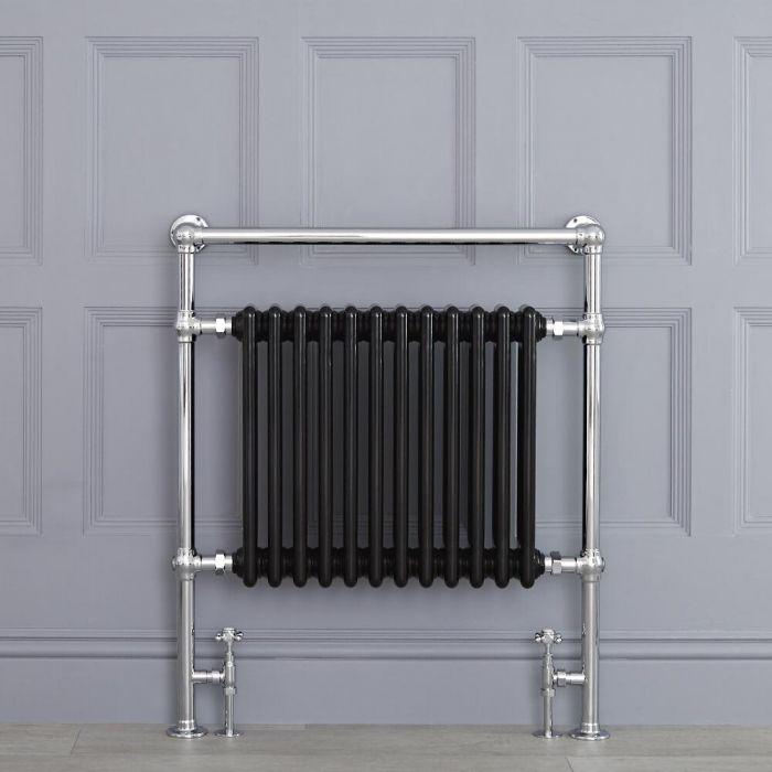 "Marquis - Black Traditional Heated Towel Warmer - 36.75"" x 31.25"""
