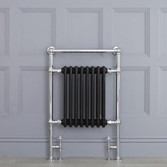 "Marquis - Black Traditional Heated Towel Warmer - 36.75"" x 24.5"""