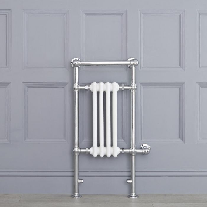 "Marquis Electric  - White Traditional Heated Towel Warmer with Shelf - 36.75"" x 17.75"""