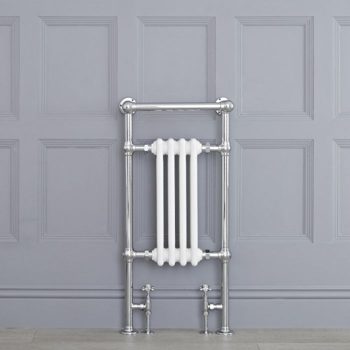"""Marquis - Traditional Hydronic Heated Towel Warmer with Shelf - 36.75"""" x 17.75"""""""