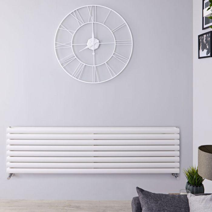"Revive - White Horizontal Double-Panel Designer Radiator - 18.5"" x 70"""