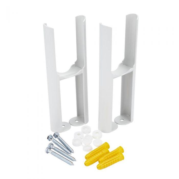 White Floor Mounting Kit for Two-Column Traditional Radiators