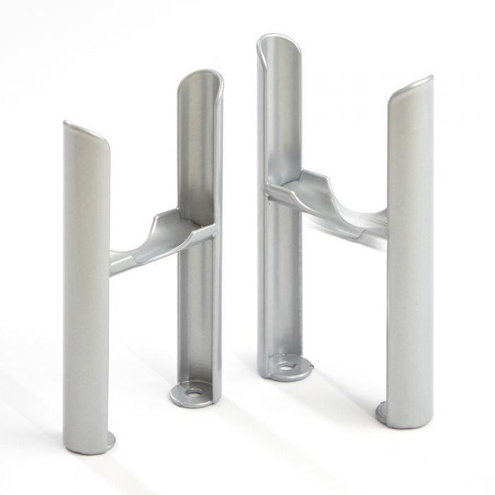 Regent – Metallic Silver Floor Mounting Feet Kit for 3 Column Traditional Radiator