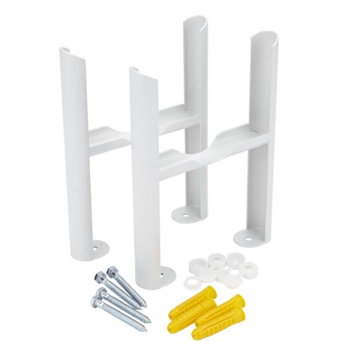 White Floor Mounting Kit for Four-Column Traditional Radiators