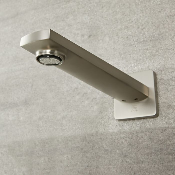 Arcadia - Brushed Nickel Wall-Mounted Tub Spout