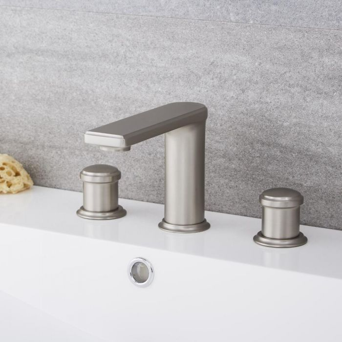 Eclipse - Widespread Brushed Nickel Bathroom Faucet