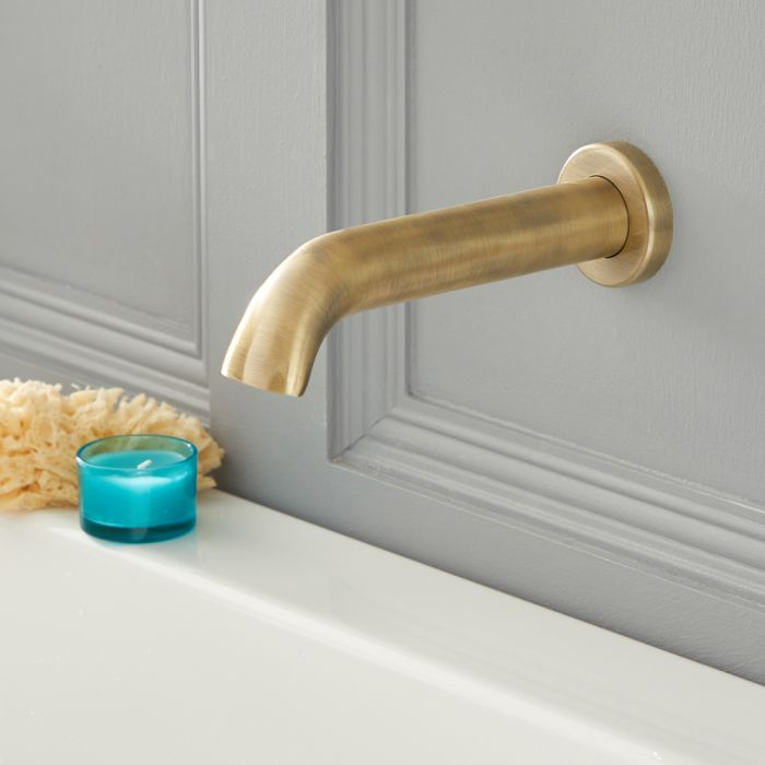 Elizabeth - Traditional Wall Mount Tub Spout - Brushed Gold