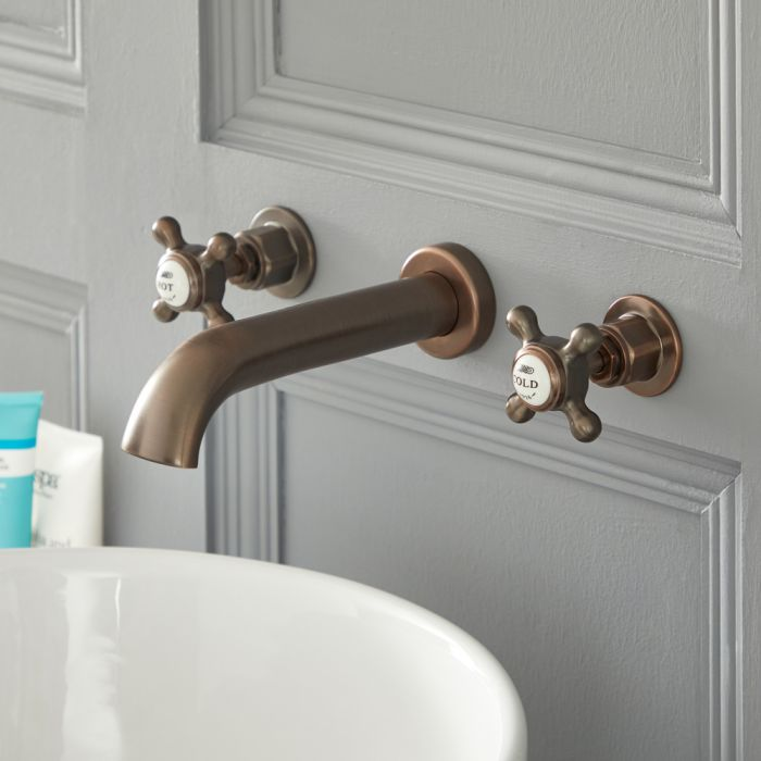 Elizabeth - Traditional Wall Mounted Widespread Bathroom Faucet - Oil Rubbed Bronze