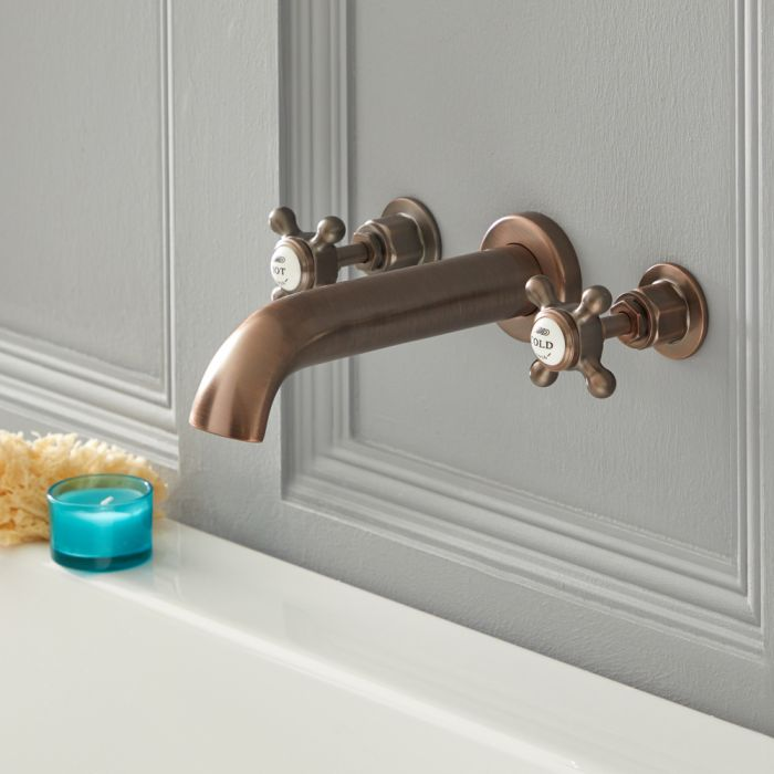 Elizabeth - Traditional Wall Mounted Widespread Tub Faucet - Oil Rubbed Bronze
