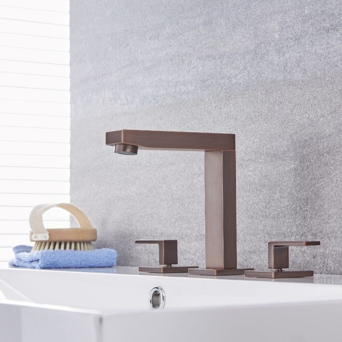 Kubix - Oil-Rubbed Bronze Widespread Bathroom Faucet