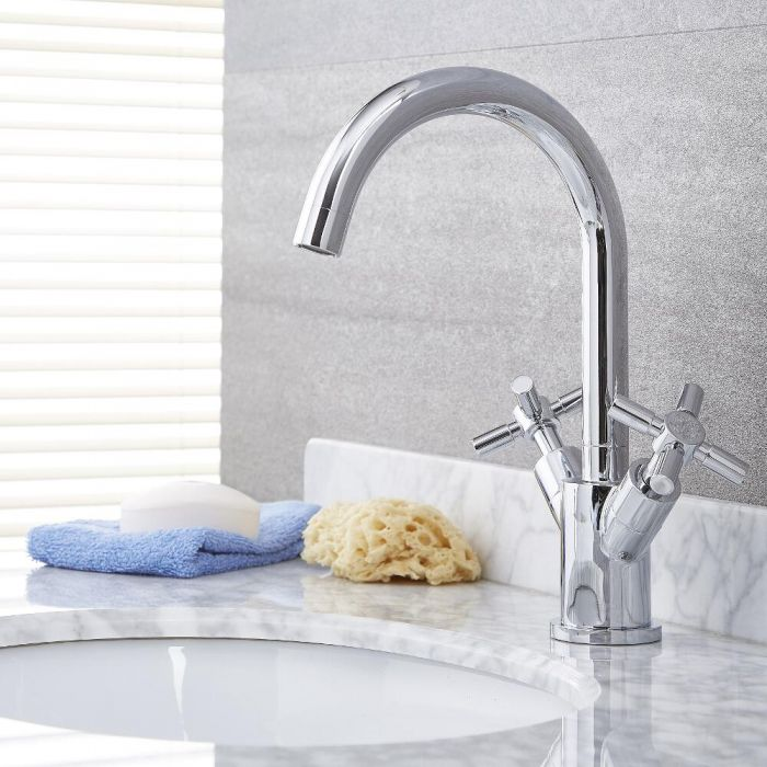 Tec - Chrome Single-Hole Bathroom Faucet